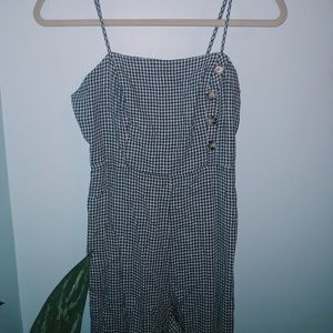 Urban Outfitters blue plaid jumpsuit